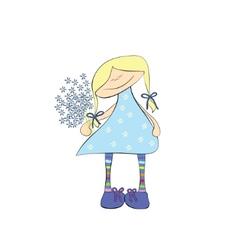 cute girl vector image