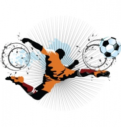 football player in attack vector image vector image