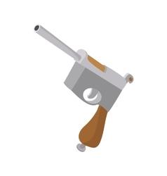 German pistol icon cartoon style vector image
