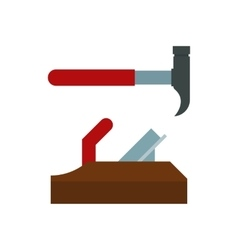 Home repair tools hammer and plane vector image