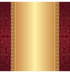 maroon and gold background vector image