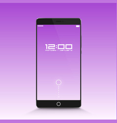 phone in standby mode vector image
