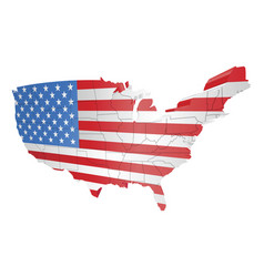 usa map and flag vector image vector image