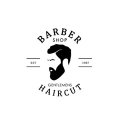 vintage barber shop logo for your design vector image vector image
