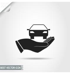 Car in Hand icon vector image vector image
