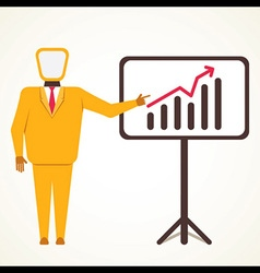 men present business growth graph concept vector image