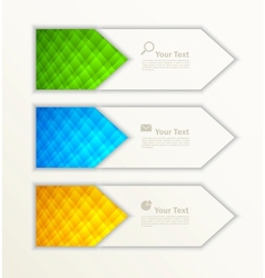 Set of banners vector image vector image
