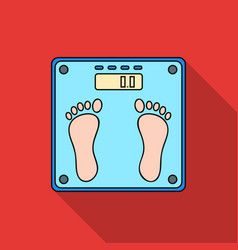 Weighing scale icon in flat style isolated on vector