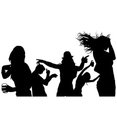 Dancing Group Silhouette vector image vector image
