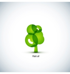 Eco green tree concept vector image