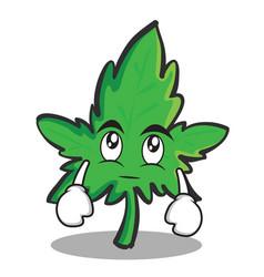 eye roll marijuana character cartoon vector image vector image