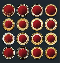 luxury golden design elements collection 8 vector image vector image