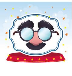 mask glasses fun image vector image