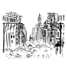 Street of New York vector image