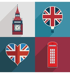 uk decorations vector image
