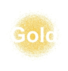 gold particles background vector image