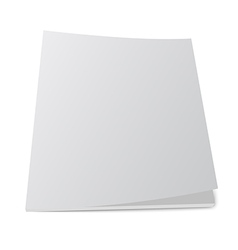 isolated blank brochure or magazine mockup vector image vector image