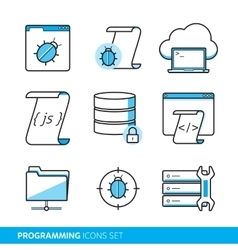 Programming icons set vector image vector image