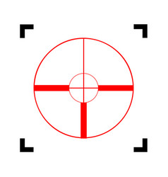 sight sign red icon inside vector image