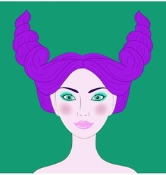 Taurus beautiful girl vector image vector image