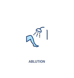 Ablution concept 2 colored icon simple line vector