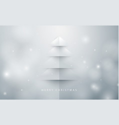 Abstract christmas tree background paper art style vector