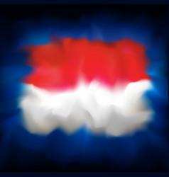 Abstract flag indonesia on dark blue sky vector