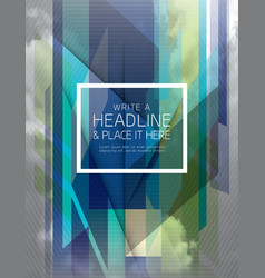 Abstract fractal futuristic background design vector
