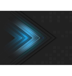Abstract wallpaper with shiny arrow and square vector