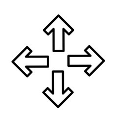Arrows alls directions icon vector