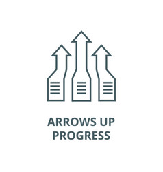 arrows upprogress line icon arrows up vector image
