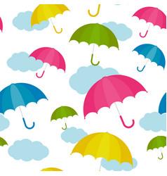autumn umbrella vector image