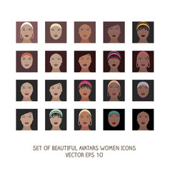 avatars women icons-03 vector image