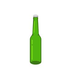 Beer bottle glass isometric green isolated vector