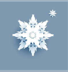 big winter white snowflake vector image