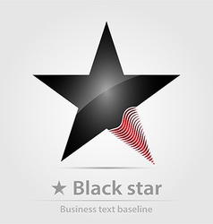 Black star business icon vector image