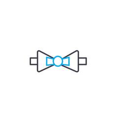 bow tie thin line stroke icon bow tie vector image