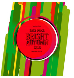 bright autumn sale text poster vector image