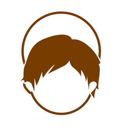 brown silhouette of faceless head of child jesus vector image