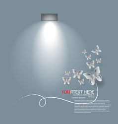 butterfly with light vector image