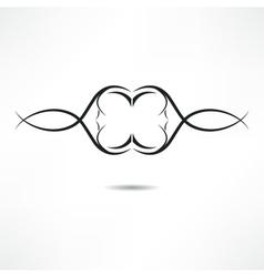 Calligraphic design element vector image