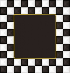 Checkered square picture frame vector
