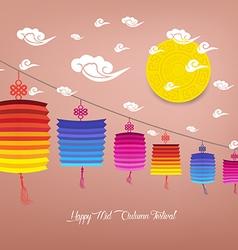 Chinese Lantern Festival Mid Autumn Festival vector