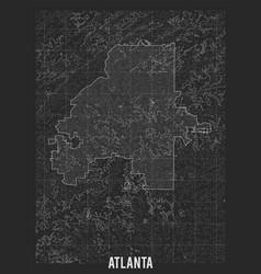 City map atlanta elevation map town vector