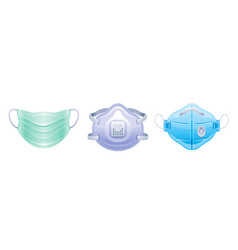 Corona virus covid 19 protect respirator mask icon vector