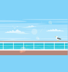 Cruise travel and tourism concept vector