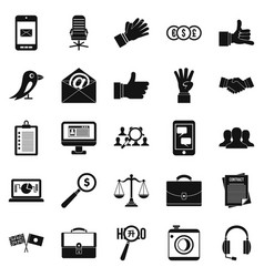 dialogue icons set simple style vector image