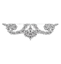 doodad design beautiful bunch vintage engraving vector image
