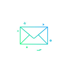 email mail letter icon design vector image