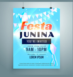 festa junina party invitation background design vector image